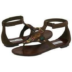 Steve Madden Sladde Brown Leather Sandals