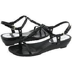 AK Anne Klein Adonia Black Patent Sandals