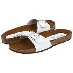 Steve Madden Lebra White Leather Sandals