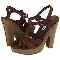 Steve Madden Pheobe Taupe Leather Sandals