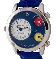 Joshua & Sons Men's Triple Time Zone Automatic Watch