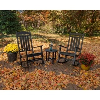 POLYWOOD® Presidential 3-Piece Outdoor Rocking Chair Set with Round Table