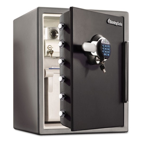 Sentry Safe Electronic Water-Resistant Fire-Safe 2 ft3 18 2/3 x 19 3/8 x 23 7/8 Black 23233716