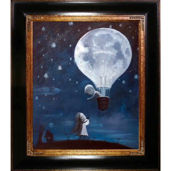 Adrian Borda 'He Gave Me The Brightest Star' Hand Painted Framed Oil Reproduction on Canvas 23234873