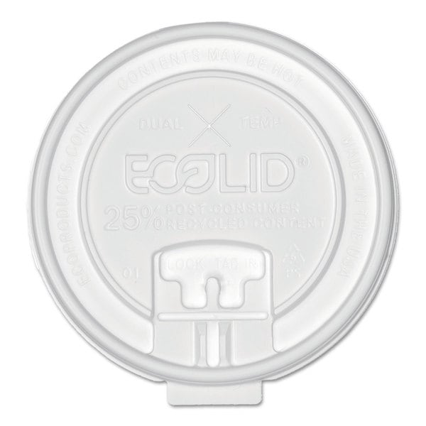 Eco-Products 25-percent Recy Content Dual-Temp Lk Tab Lid with Straw Slot 20-ounce Insul 50/Pack 12 Pack/Carton 23234880