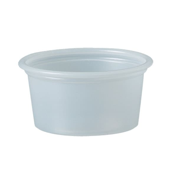 SOLO Cup Company Polystyrene Portion Cups 3/4 -ounce Translucent 2500/Carton 23234885