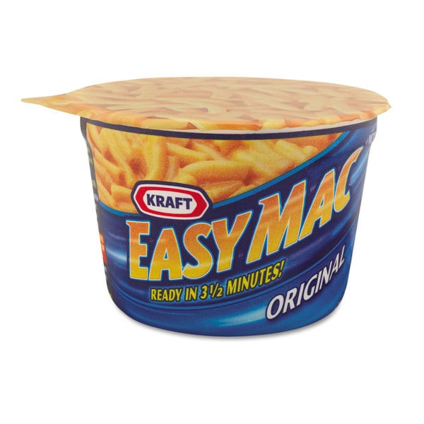 Kraft Easy Mac Macaroni & Cheese Micro Cups 2.05oz 10/Carton 23234894