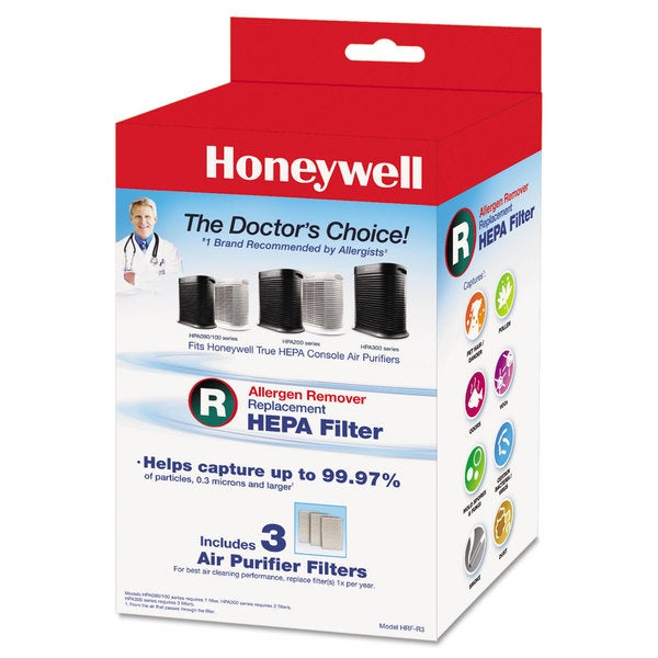 Honeywell Allergen Remover Replacement HEPA Filters 3/Pack 23235100