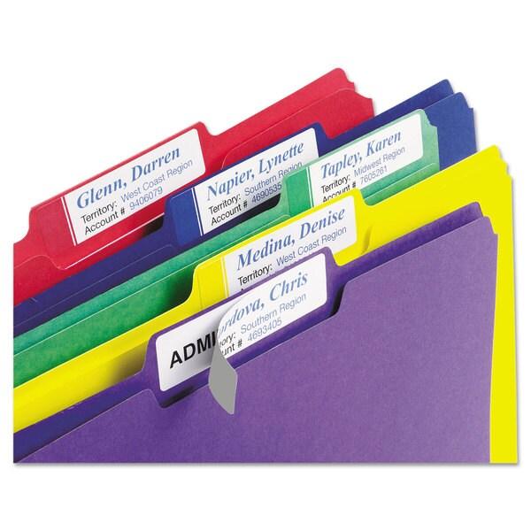 Avery X-Large 1/3 Cut TrueBlock File Folder Labels 15/16 x 3 7/16 White/Assorted 450/Pack 23244211