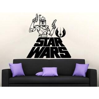 Star Wars Logo Boba Fett Vinyl Sticker Decals Nursery Baby Room Home  Sticker Decal size 33x39 Color Black 23259105
