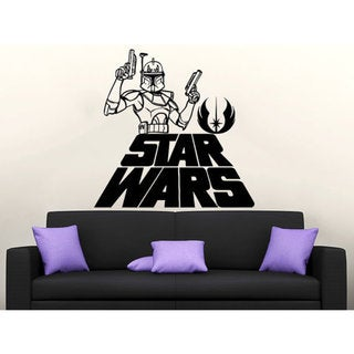 Star Wars Logo Boba Fett Vinyl Sticker Decals Nursery Baby Room Home  Sticker Decal size 22x26 Color Black 23259106
