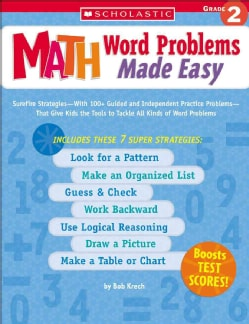 Math Word Problems Made Easy: Grade 2 (Paperback)
