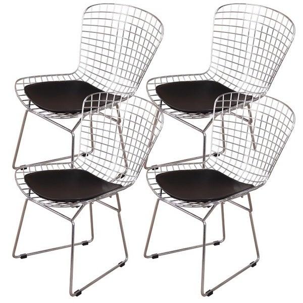 MLF Harry Bertoia Wire 4-piece Dining Chair Set 23275447