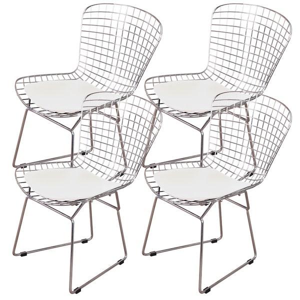 MLF Harry Bertoia Wire 4-piece Dining Chair Set 23275450