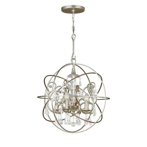 Crystorama Solaris Collection 5-light Olde Silver/Crystal Chandelier 23275701