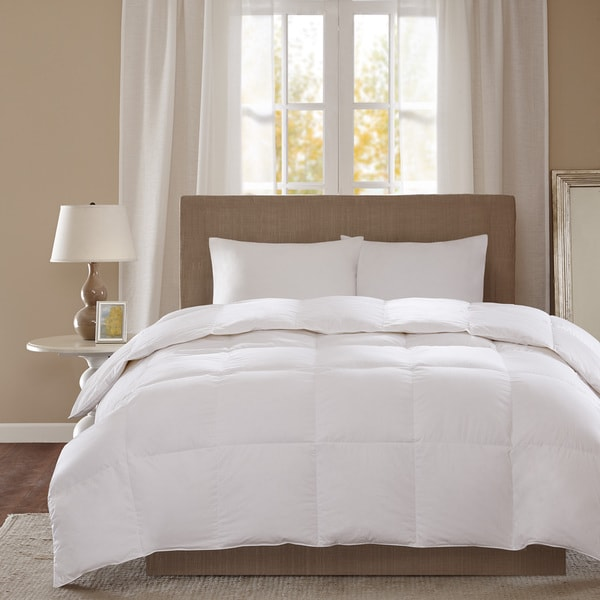 True North by Sleep Philosophy Level 2 Down Full/Queen Size Comforter with 3M Scotchgard Treatment in White(As Is Item) 23277893