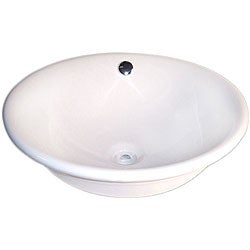 Fontaine Decorative Round Porcelain Vessel Sink