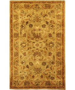 Safavieh Handmade Antiquities Kasadan Olive Green Wool Rug (3' x 5')