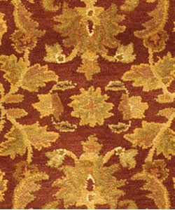 Safavieh Handmade Exquisite Wine/ Gold Wool Rug (3' x 5')