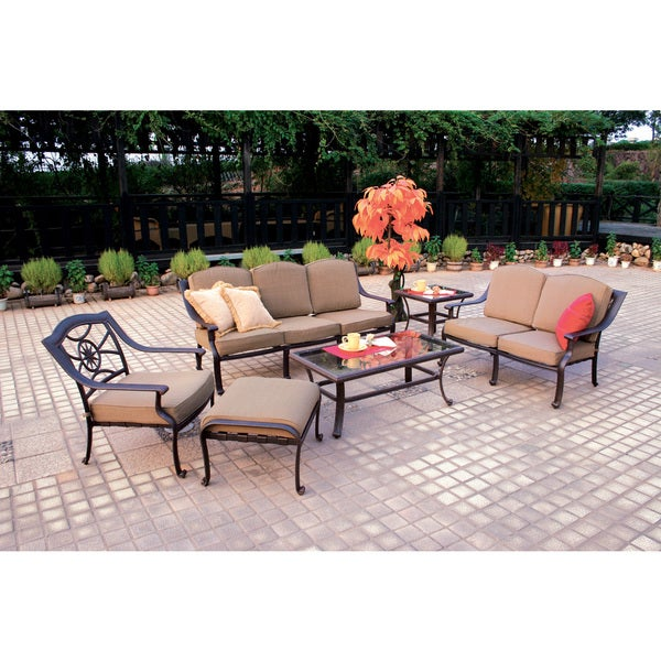 Darlee Ten Star Cast Aluminum 6-piece Deep Seating Set 23304940