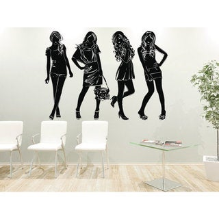 Girls Women Vinyl Sticker Decals Hair Salon Fashion Cosmetic Hairdressing Beauty Salon Sticker Decal 23330311