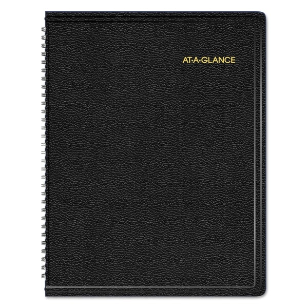 AT-A-GLANCE Triple View Weekly/Monthly Appointment Book, 8 1/4 x 10 7/8, Black, 2018 23331524