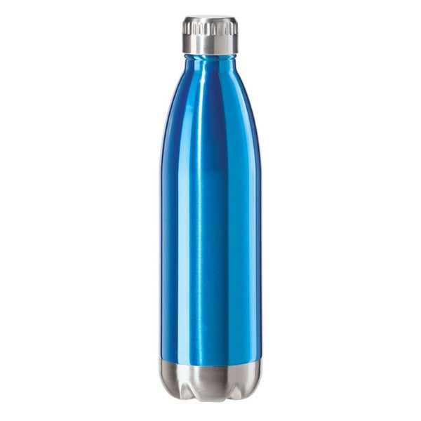 Oggi Calypso Blue/Silvertone Stainless Steel Sports Bottle 23331920