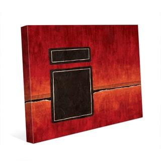 Interdimensional Gate Red Wall Art Print on Canvas
