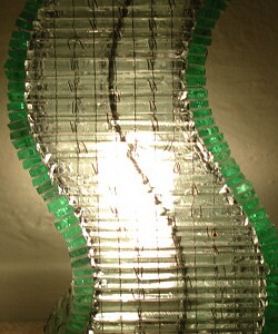 Recycled Glass Natural SX Lamp (Indonesia)