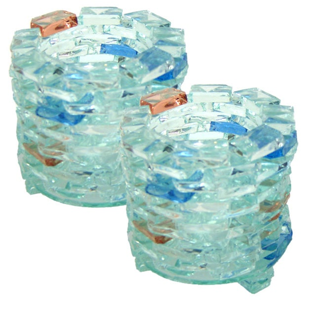 Set of 2 Recycled Glass Votives (Indonesia)