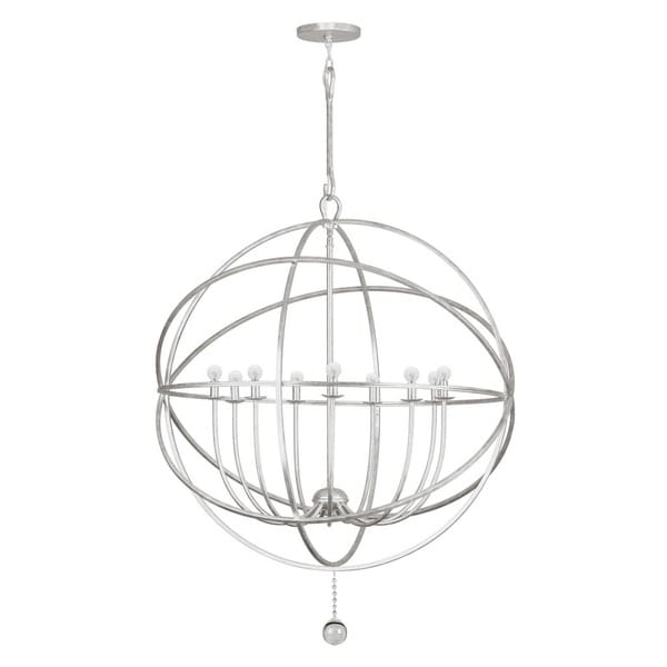 Crystorama Solaris Collection 9-light Olde Silver Chandelier 23339816