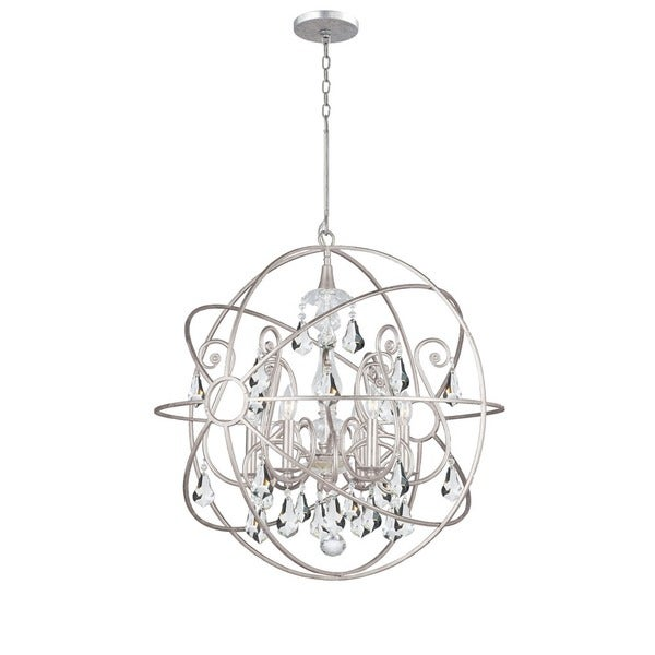 Crystorama Solaris Collection 6-light Olde Silver/Crystal Chandelier 23339840