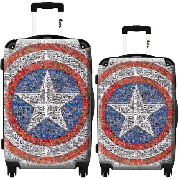 iKase Captain America 2-piece Hardside Spinner Luggage Set 23341623