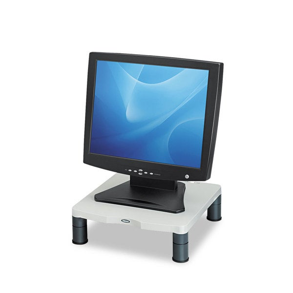 Fellowes Standard Monitor Riser 13 1/8 x 13 1/2 x 2 Platinum/Graphite 23341856