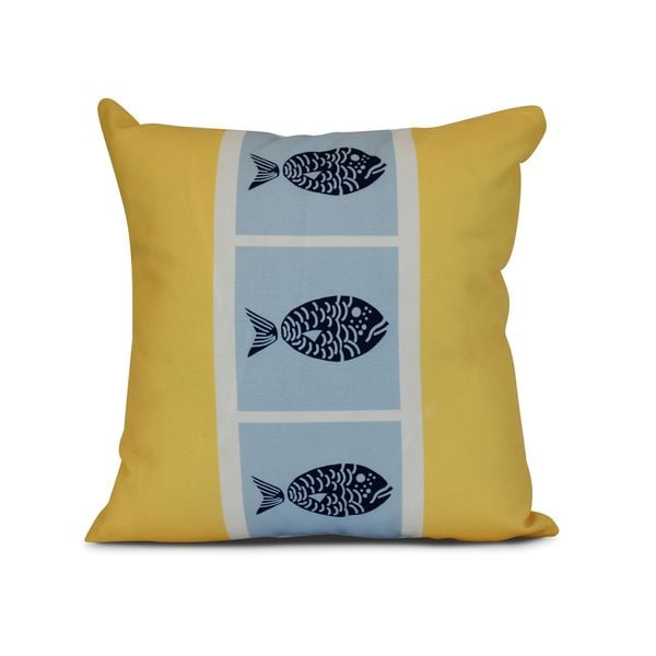 Fish Chips Animal Print Outdoor Pillow 23354289