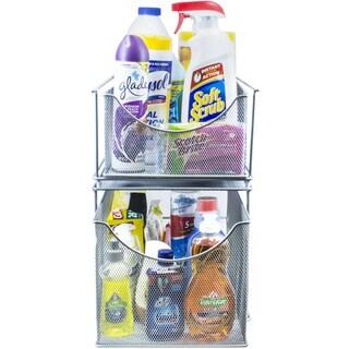 Sorbus Cabinet Organizer Set -Silver Mesh Storage Organizer