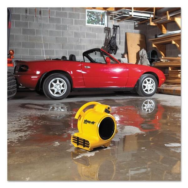 Shop-Vac Mini Air Mover Yellow 8-inch Plastic 500 cfm 23361847