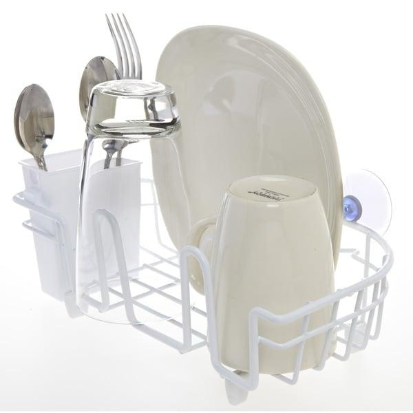 Kitchen Details White Iron Compact In-sink Dish Drainer 23362229