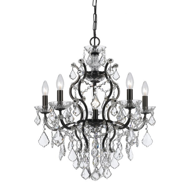 Crystorama Filmore Collection 6-light Vibrant Bronze/Swarovski Strass Crystal Chandelier 23362435