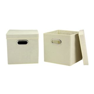 Natural Tan 11-inch Storage Cubes (Pack of 2)