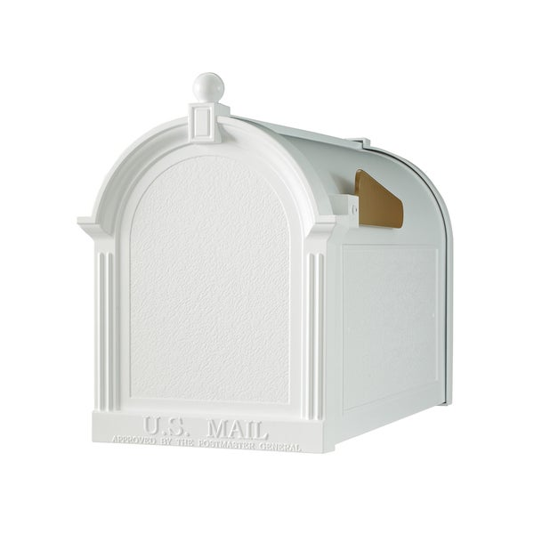 White Hall Home Outdoor White Large Capital Mailbox 23365290