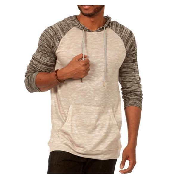 Something Scarred Raglan Cut Baseball Hoodie in Grey/Grey 23365547