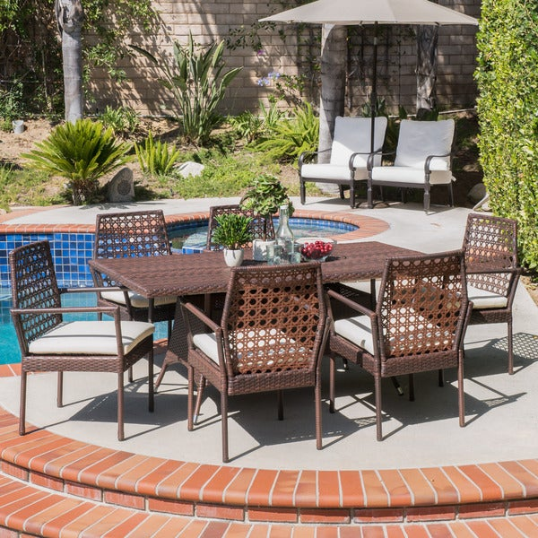 Tristan Outdoor 7-piece Wicker Dining Set by Christopher Knight Home -  295824