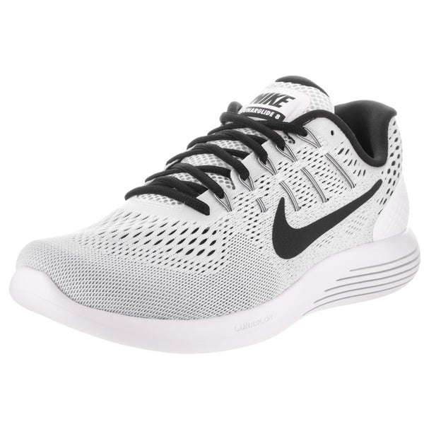 Nike Men's Lunarglide 8 White and Black Flyknit Running Shoe 23373672