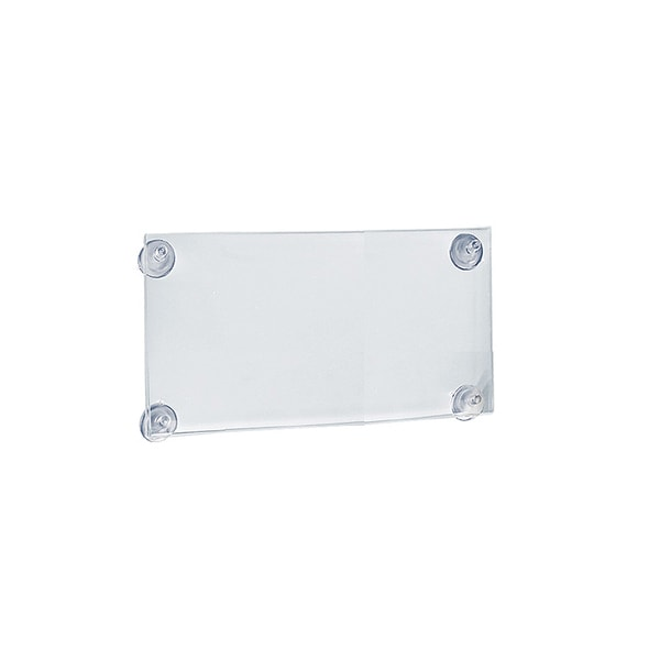 Azar 106615 11 W x 8.5 H Sign Frame with suction cups, 2Pack 23374695
