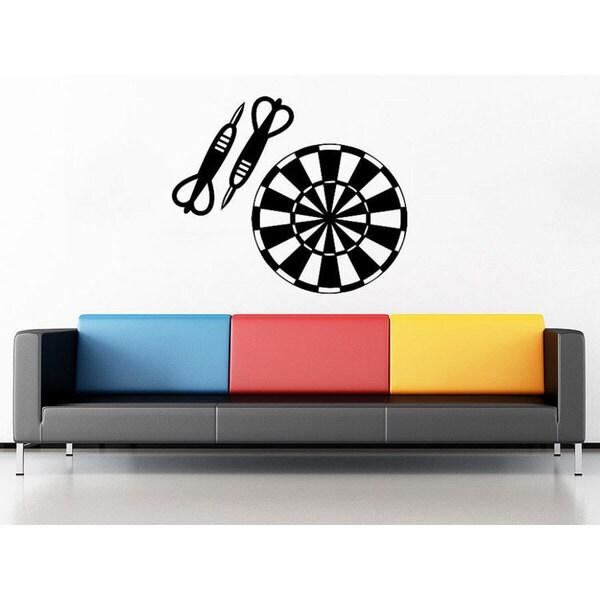 target darts wall decals vinyl stickers teens boys nursery baby room home decor art sticker. Black Bedroom Furniture Sets. Home Design Ideas