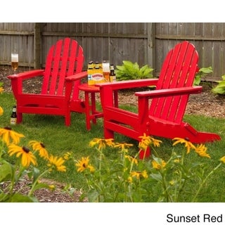 POLYWOOD® Classic 3-Piece Folding Adirondack Chair