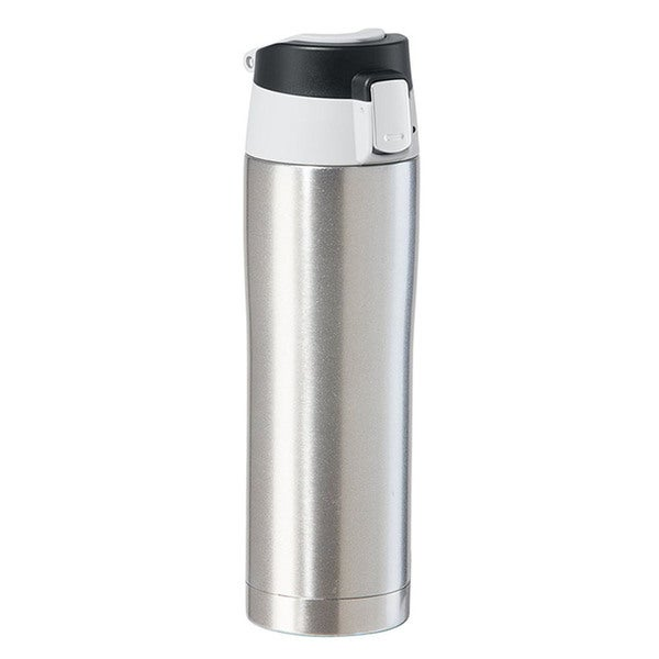 Oggi Stainless Steel Silver Travel Mug with Flip-Open Locking Lid 23388592