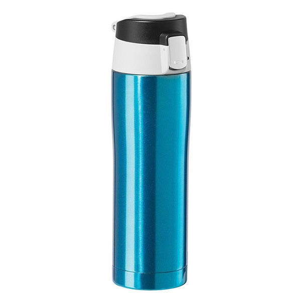 Oggi Stainless Steel Blue Travel Mug with Flip-Open Locking Lid 23388596