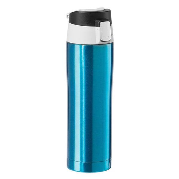 Oggi Stainless Steel Blue Travel Mug with Flip-Open Locking Lid 23388596